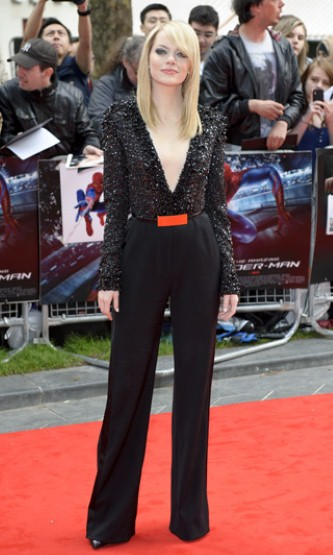 Emma Stone's Fashion on Spiderman Tour
