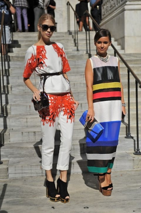 Fashion lovers on the street