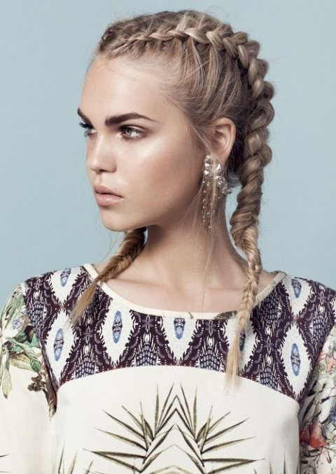 The Double Braided Hair Trend