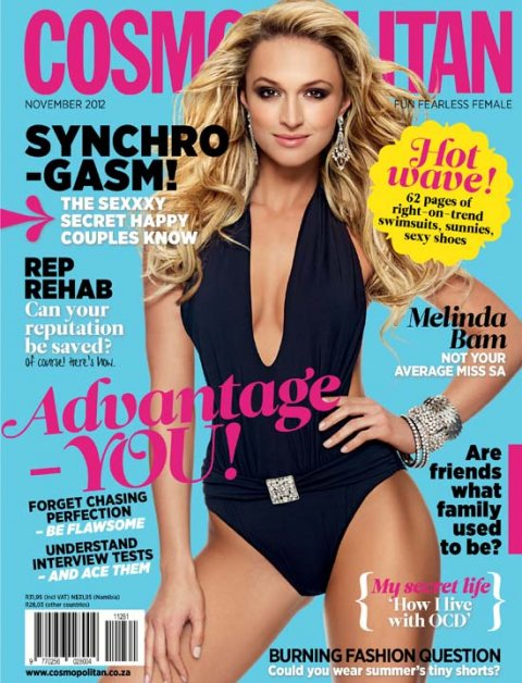 Melinda Bam Heats up the cover of Cosmopolitan