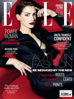 Anne Hathaway Elle Magazine UK Nov 2014