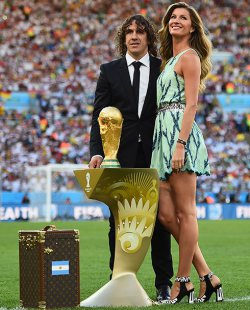 Celebs at the World Cup Final 2014