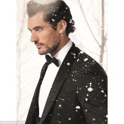 David Gandy is suited and booted