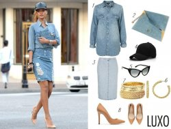 Get Rihanna's denim on denim look