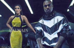 Kim Kardashian and Kanye West for Balmain