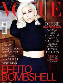 Kim Kardashian Goes Marilyn Monroe for Vogue Brazil