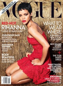 Rihanna's new Look for Vogue November 2012