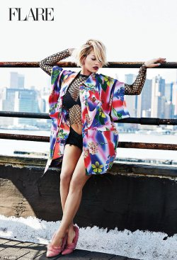 Rita Ora For Flare Magazine