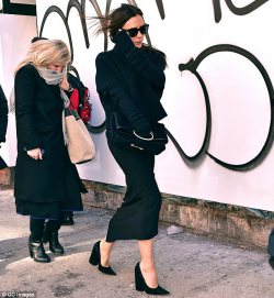 Victoria Beckham Wearing Her Latest Collection at NYFW