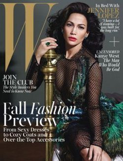 W Magazine Cover August 2013