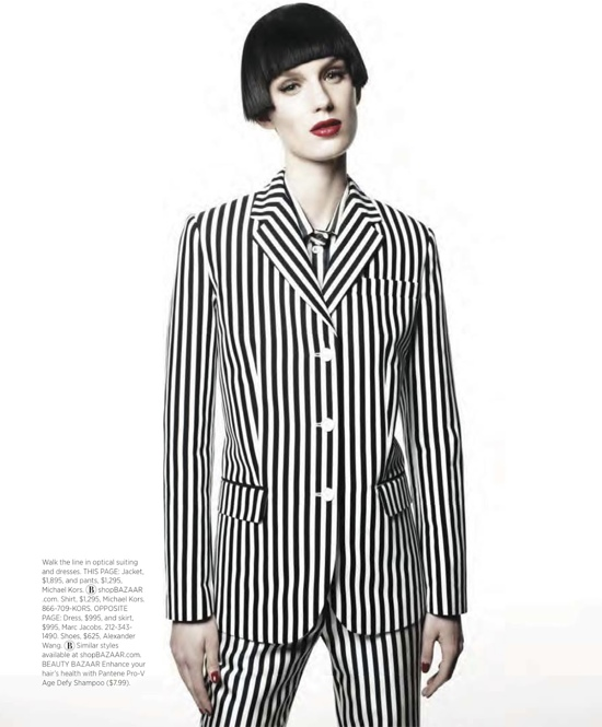 Stripes for Harpers Bazaar