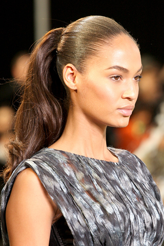 The sleek pulled back hair trend