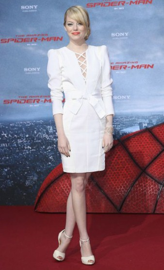 Emma Stone red carpet looks Spiderman