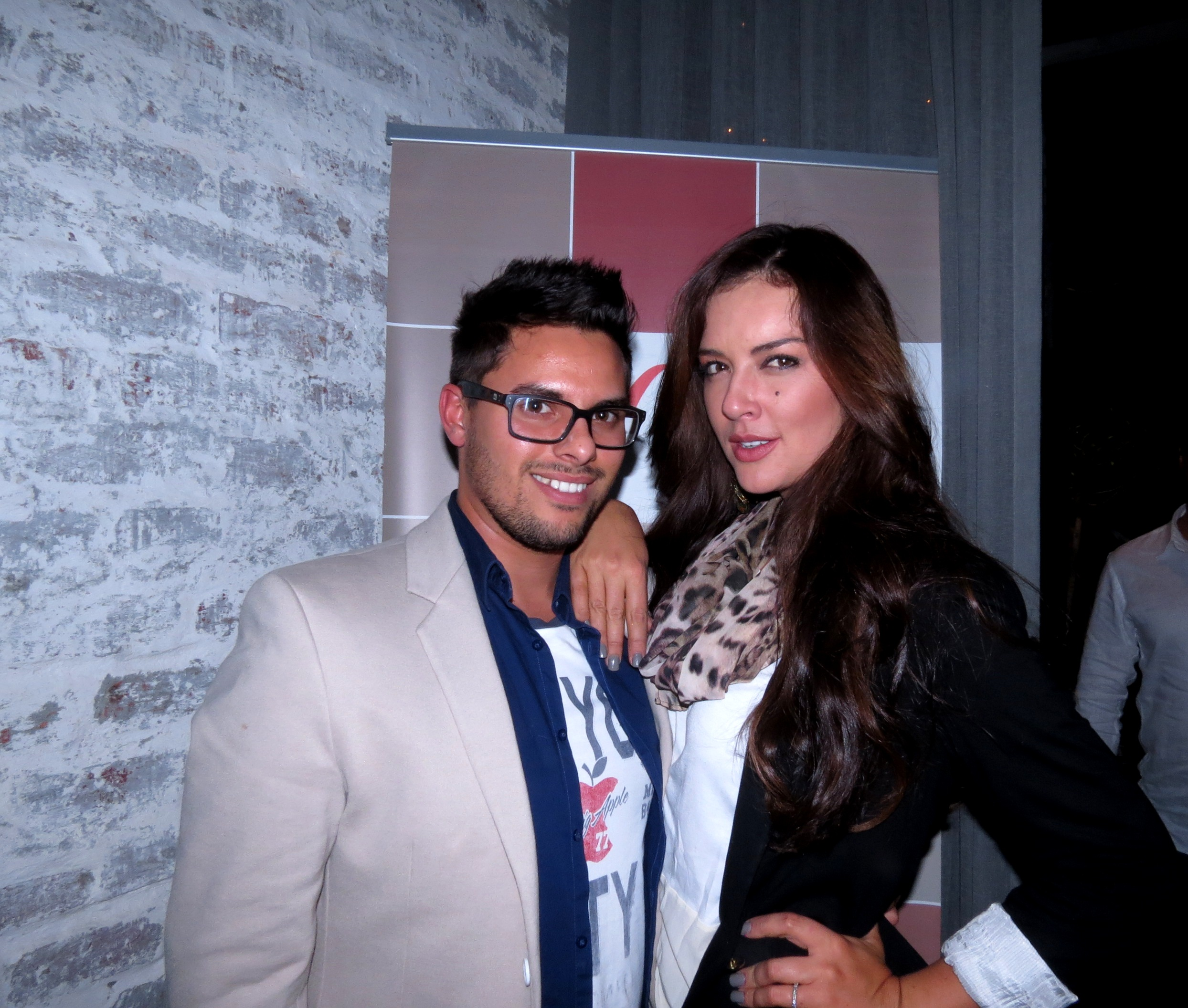 cindy nell at event with Elrico from LUXO