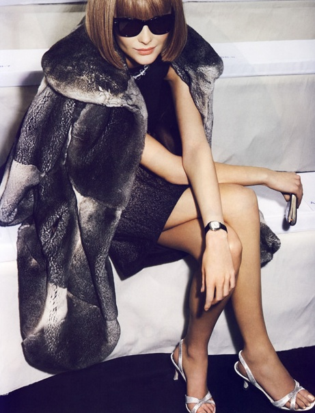 Anna WIntour in Fur Trend 2012