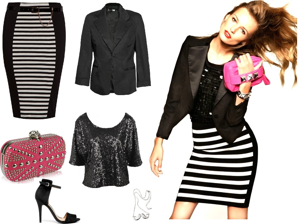 Get the striped and studded look with LUXO